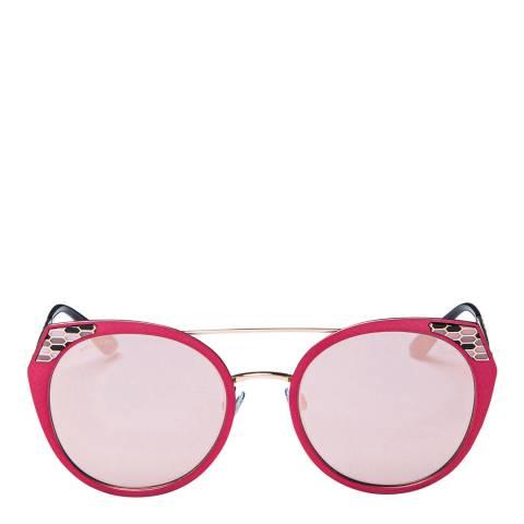 Bvlgari Women's Pink/Gold Bvlgari Sunglasses 53mm