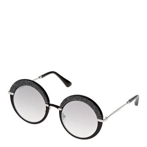 Jimmy Choo Women's Black Palladium Jimmy Choo Sunglasses 50mm