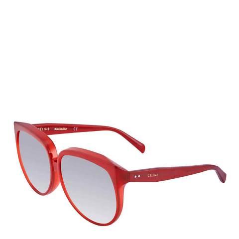 Celine Women's Red/Grey Celine Sunglasses 63mm