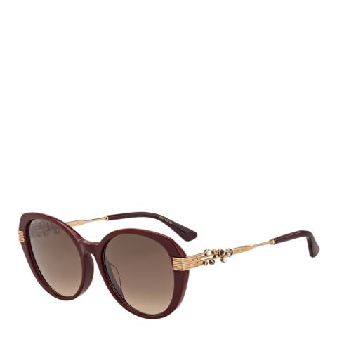 Jimmy Choo Women's Brown/Gold Jimmy Choo Sunglasses 56mm