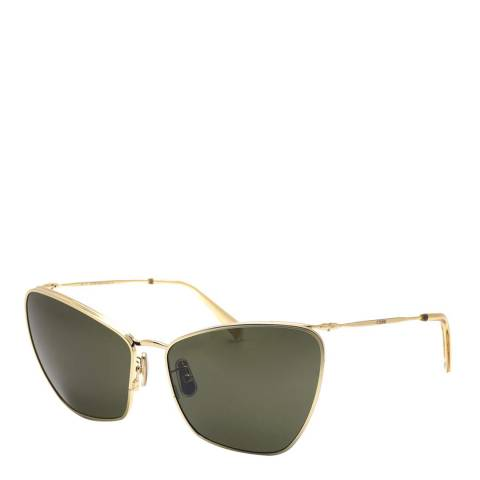 Celine Women's Gold/Grey Celine Sunglasses 61mm