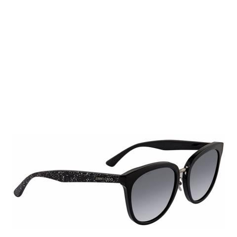 Jimmy Choo Women's Black Glitter Jimmy Choo Sunglasses 55mm