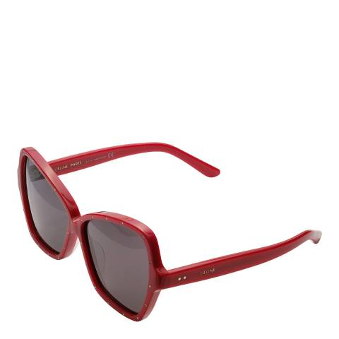 Celine Women's Red Celine Sunglasses 64mm