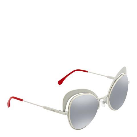 Fendi Women's Silver/Red Fendi Sunglasses 54mm