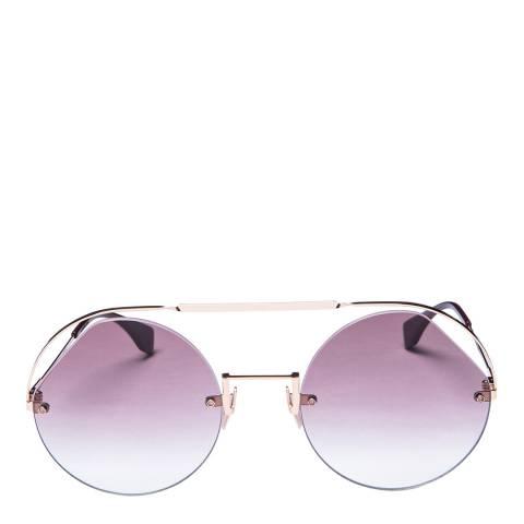 Fendi Women's Pink/Rose Gold Fendi Sunglasses 56mm