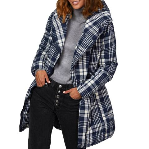 Comptoir du Manteau Navy Hooded Puffer Coat