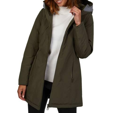 Comptoir du Manteau Khaki Cotton Blend Hooded Coat