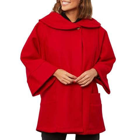 Comptoir du Manteau Red Wool Blend Oversized Coat