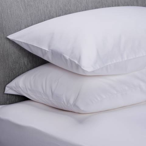 The Lyndon Company 400TC Pair of Housewife Pillowcases, White
