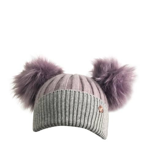 Look Like Cool Parma Violet Cashmere Pom Pom Beanie Hat
