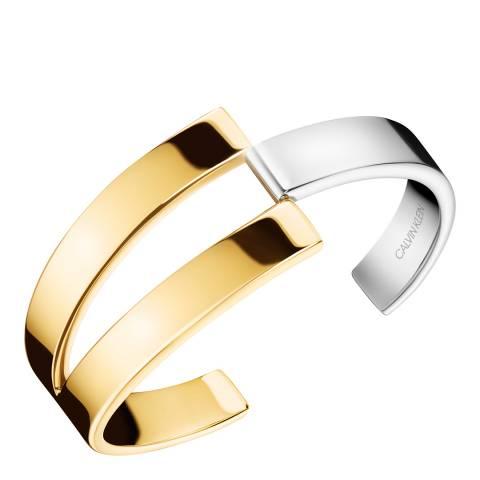 Calvin Klein Silver Gold Truly Bangle