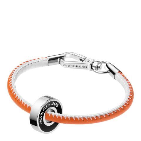 Calvin Klein Orange Black Bead Jeans Bracelet