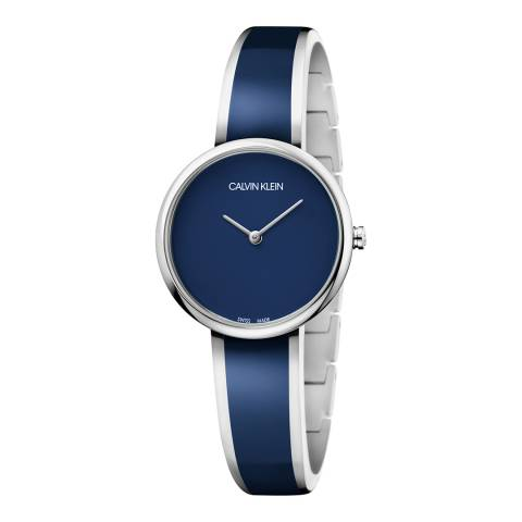 Calvin Klein Blue Silver Seduce Watch 30mm