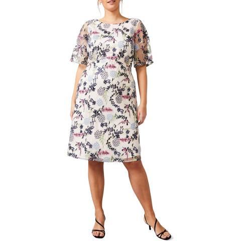 Studio 8 Blush/Multi Celine Embroidered Dress