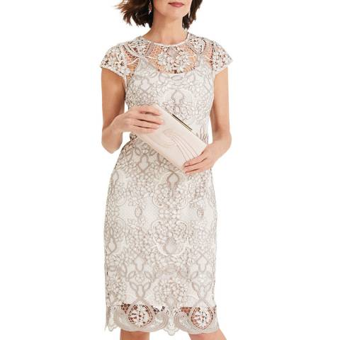 Phase Eight Cream Frances Lace Dress