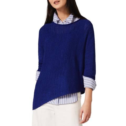 Phase Eight Blue Evangeline Knit Top