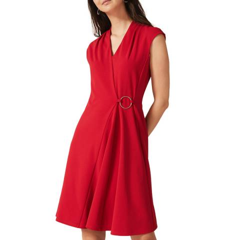 Phase Eight Red Linden Swing Dress