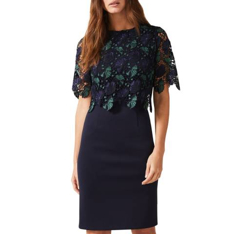 Phase Eight Navy Alice Lace Dress