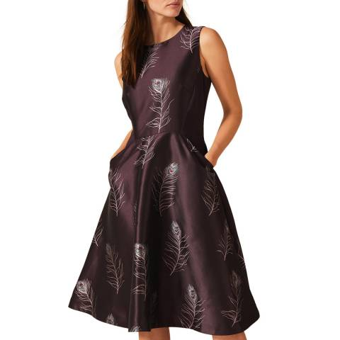 Phase Eight Purple Rosanna Feather Dress