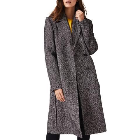 Phase Eight Navy Tess Tweed Coat