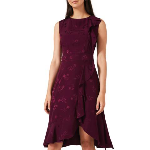 Phase Eight Red Reese Frill Dress