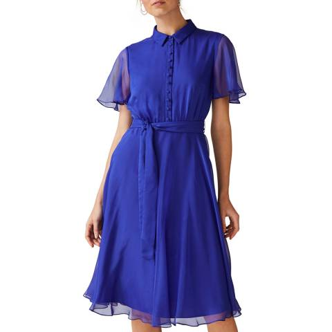 Phase Eight Blue Adelphia Shirt Dress