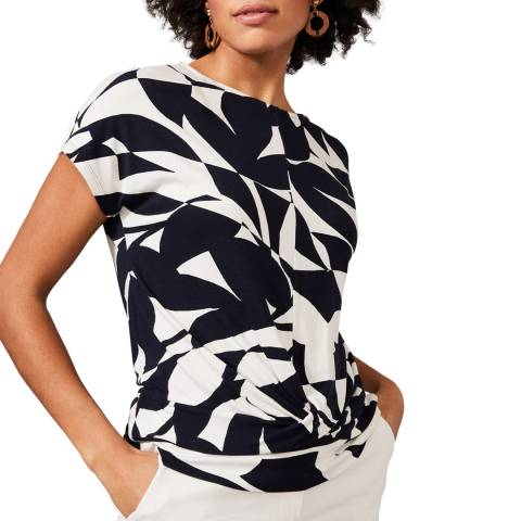 Phase Eight Navy Gladys Abstract Top