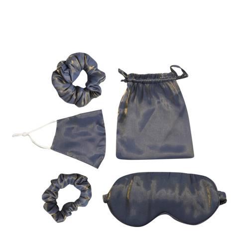 JayLey Collection Grey Luxury Silk Travel Set