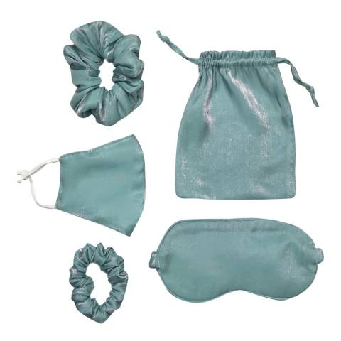 JayLey Collection Blue Luxury Silk Travel Set