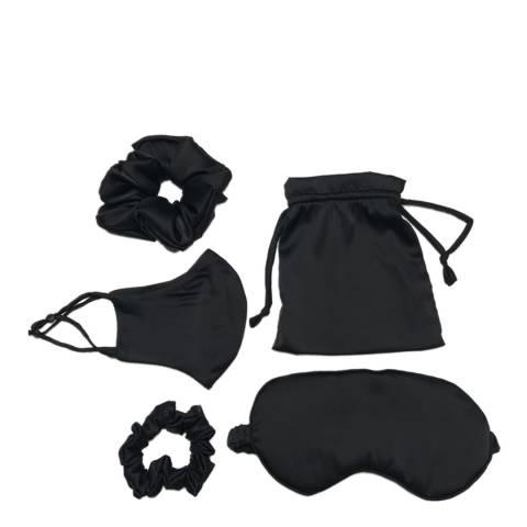 JayLey Collection Black Luxury Silk Blend Travel Set