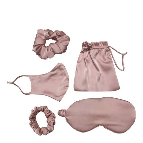 JayLey Collection Pink Luxury Silk Blend Travel Set