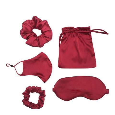 JayLey Collection Red Luxury Silk Blend Travel Set