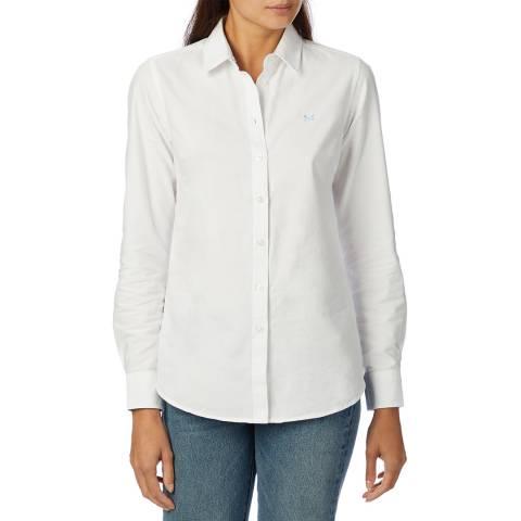 Crew Clothing White Oxford Cotton Shirt