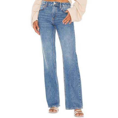 Free People Blue Laurel Canyon Flared Jeans