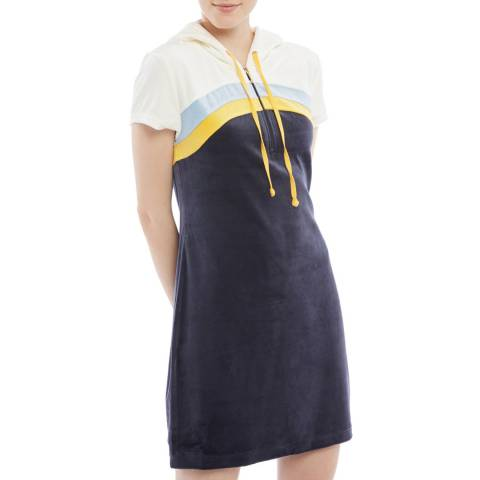 Juicy Couture Blue 3/4 Zip Mini Dress