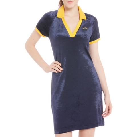 Juicy Couture Navy Deep V Neck Dress