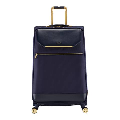 Ted Baker Navy Albany Large 4 Wheel Suitcase