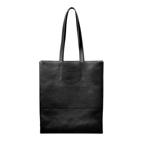 Aspinal of London Origami Tote Black Pebble