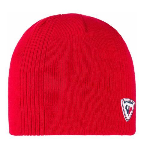 Rossignol Red Hug Beanie Hat