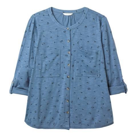 White Stuff Blue Long Sleeve Jersey Shirt