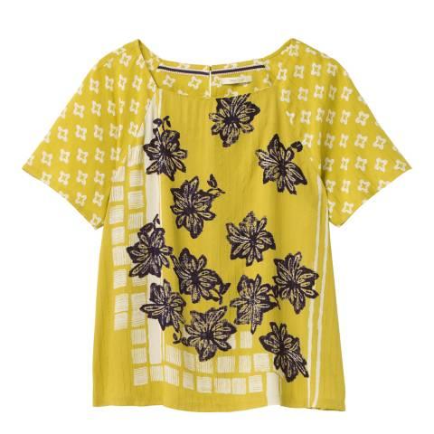 White Stuff Yellow Lightweight T-Shirt