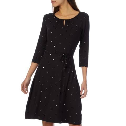 White Stuff Ditsy Foil Spot Jersey Dress