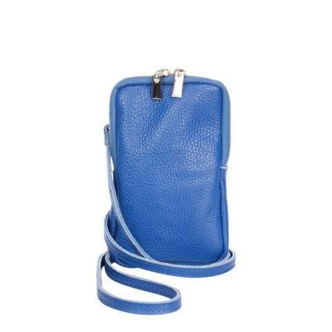 Massimo Castelli Blue Leather Phone case