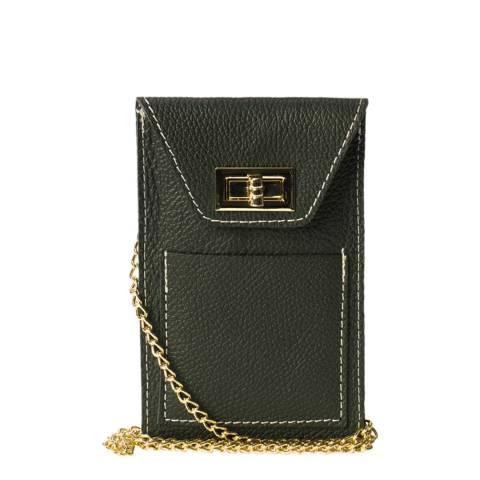 Massimo Castelli Green Leather Phone case