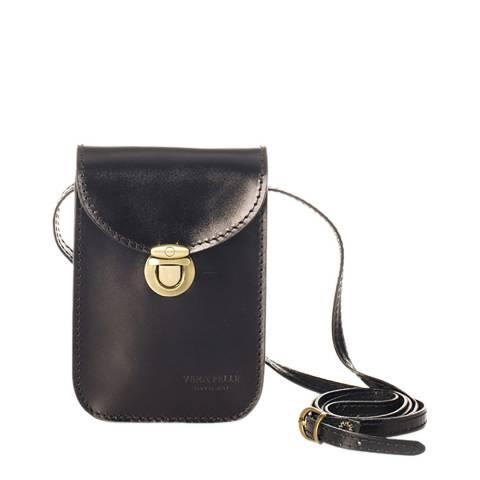 Massimo Castelli Black Leather Phone case