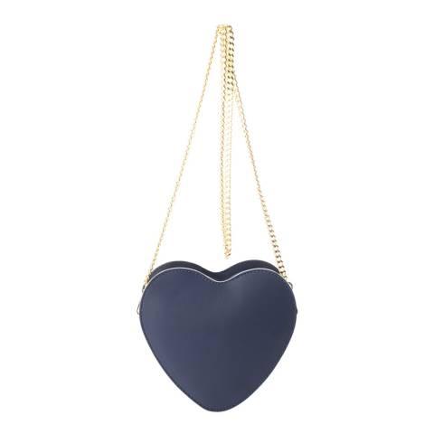 Massimo Castelli Blue Leather Crossbody Bag
