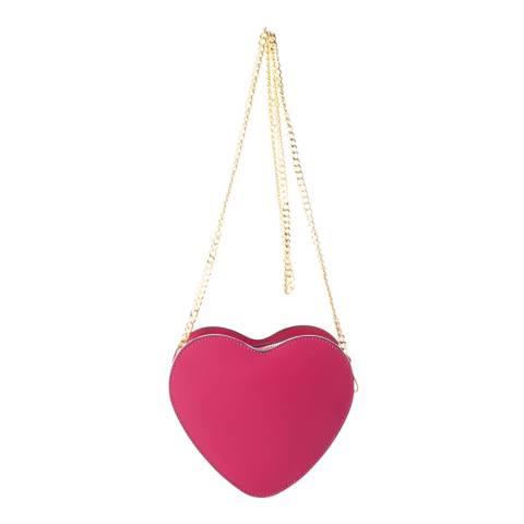 Massimo Castelli Fuchsia Leather Crossbody Bag