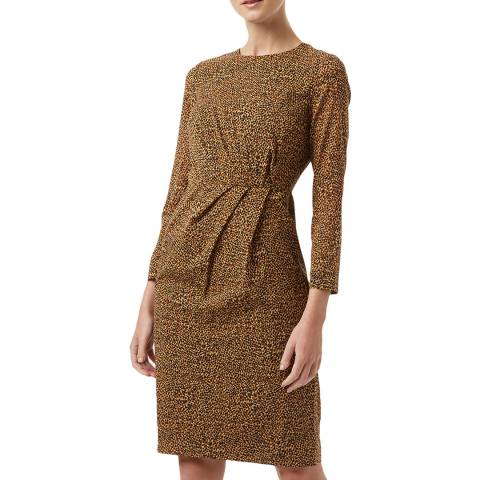 Hobbs London Brown Trina Silk Blend Dress