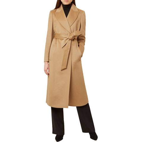 Hobbs London Beige Olivia Wool Coat