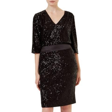 Hobbs London Black Sequin Salma Skirt